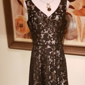 Tahari Sleeveless Lace Dress